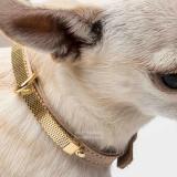 Collar 'Gina' beige-gold