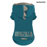 Hundesweater 'DOGZILLA' petrol (Gr.26,28)