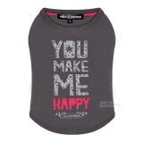 Shirt Happy grey (Gr.XS,S-Long)