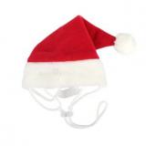 Hunde-Mütze SANTA rot