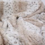 Hundedecke Snow Leopard beige