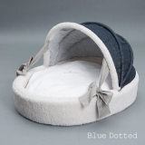 Hundebett Irish Cradle blau