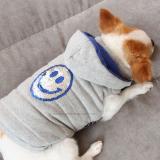 Hundejacke 'Happy' grau-blau