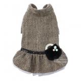 Hundekleid 'Herringbone' braun (Gr.S,L)
