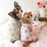 Hunde-PJ Ducky gelb, pink