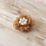 Hunde-Haarschleife Holiday Flower caramel