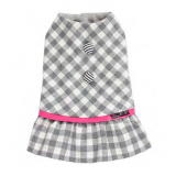 Hundekleid Check grey
