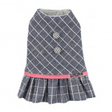 Hundekleid 'Check' blue