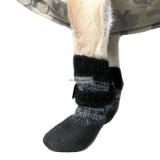 Hundeschuhe/ Socken 'In & Out' grau