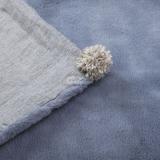 Hundedecke Pompom Linen grey
