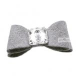 Hundehaarschleife 'Big Bow' grey