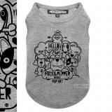 Shirt DOODLE grey