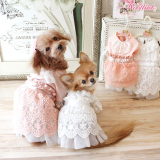 Hundekleid 'Dreamy Afternoon' peach