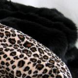 Hunde-Schlafsack 'Leopard' schwarz-braun