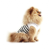 Hunde-Shirt 'MARINIERE' weiß