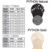 Hundehalsband 'PYTHON' gold