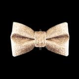 Hunde-Schleife Glitter Bow gold