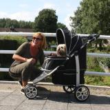 Hundebuggy 'MONACO' schwarz