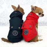 Hunde-Regenmantel 'MATELOT' dunkelblau