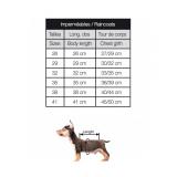 Hunde-Regenmantel 'MATELOT' rot