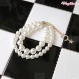 Hunde-Perlenkette Pearl weiß