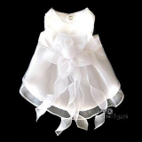 Hunde-Kleid Isabell reinweiß