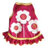 Hundekleid Happy Flowers pink