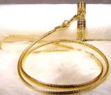 Hundehalsband 'Glamour' gold (Gr.XS,XL)