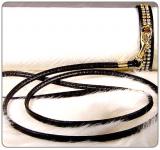Halsband 'Glamour' schwarz (Gr.XS)