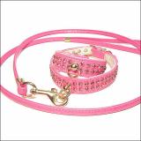 Hundehalsband 'Glamour' pink (Gr.L)