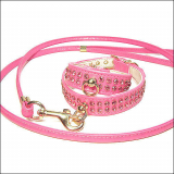Hundeleine Glamour pink