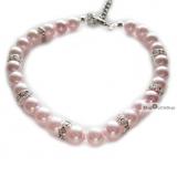 Hunde Perlen-Collier Luxe Pearl rosé (Gr.L)