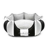 Hunde-Bett MONTE CARLO grau-schwarz