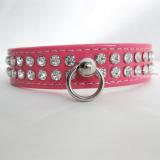 Hundehalsband & Leine Ciccone pink/ Lack, im Set
