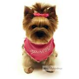 Hunde-Bandana Spoiled rosa (Gr.M)