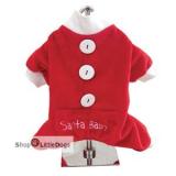 Hunde-Jumper Santa Baby rot-weiß (Gr.S)