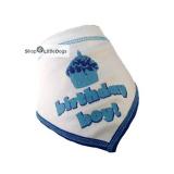 Hunde-Bandana Birthday Boy blau