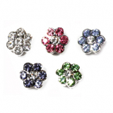 Slider Flowers grün, lila, blau, clear