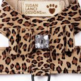 Hunde-Geschirr Big Bow leopard