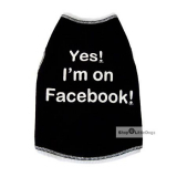 Top Facebook schwarz (Gr.XXS,XS,L)